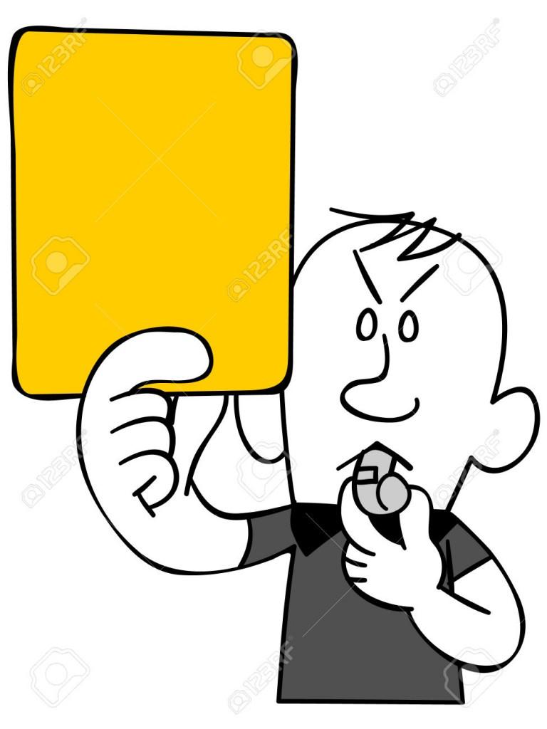 32871420-Arbitro-di-emettere-un-cartellino-giallo-parte-superiore-del-corpo--Archivio-Fotografico