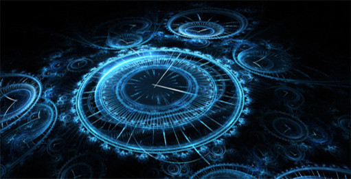 orologio nero blu